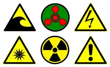 Hazard signs set 2