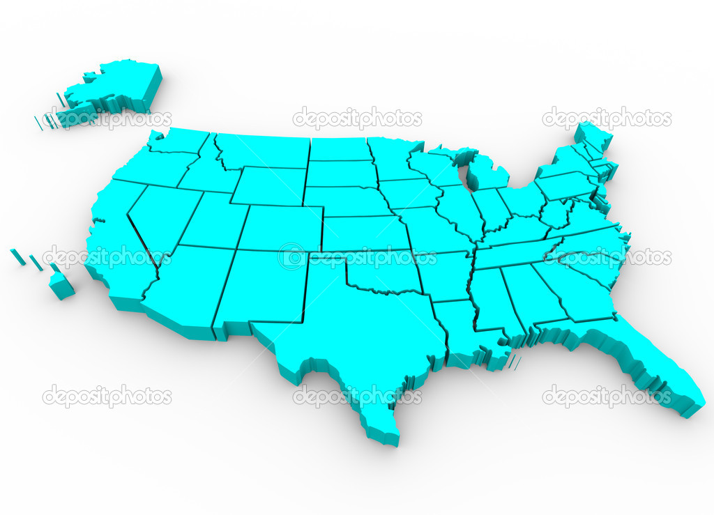United States Map Stock Photos Royalty Free United States Map - Map of united states
