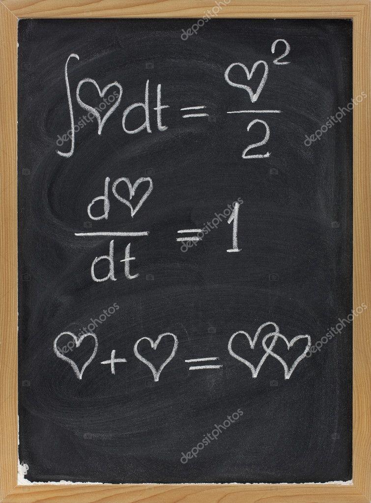 Matemática do amor — Fotografias de Stock © PixelsAway