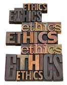 Fotografie Ethics word collage