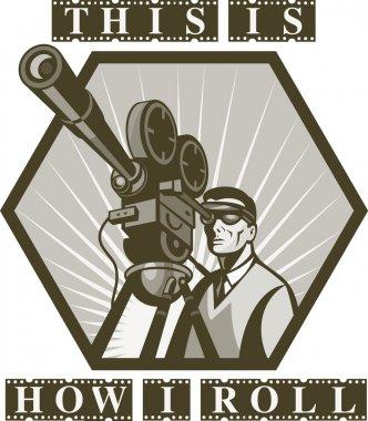 Vintage movie or television film camera director