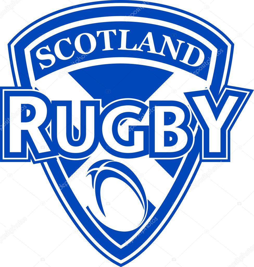 rugby ball shield scotland flag u2014 stock photo patrimonio 5078834