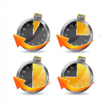 Timer clocks. vector illustration