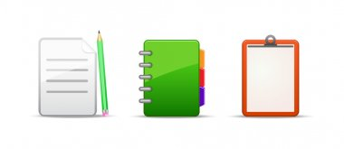 Note address book icon set