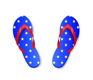Flip-flops in national colors