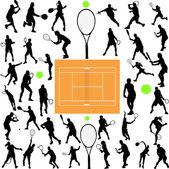 Fotografie Tennis players