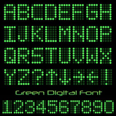 Green Digital Font