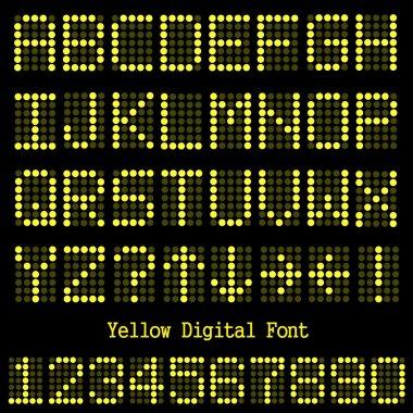 Yellow Digital Font