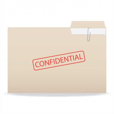 Confidential Folder Illustration