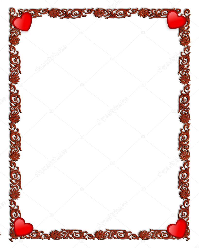 cadre ornemental de saint valentin photographie irisangel 4654521. Black Bedroom Furniture Sets. Home Design Ideas