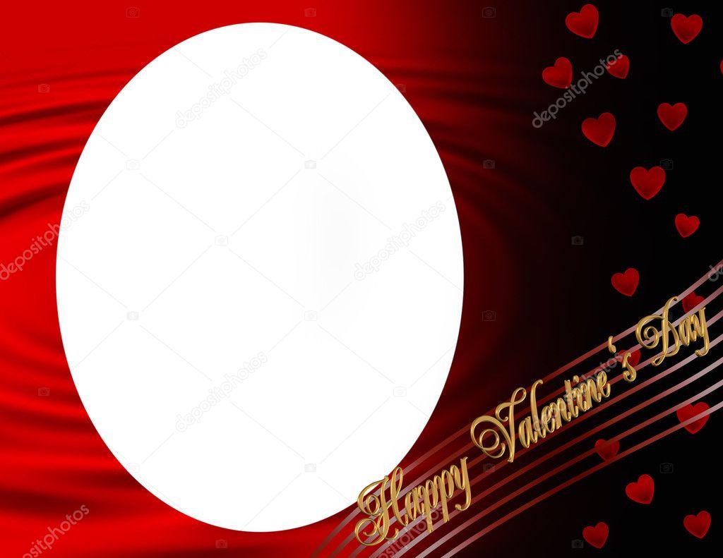 Happy Valentines Day oval frame — Stock Photo © Irisangel #4791903