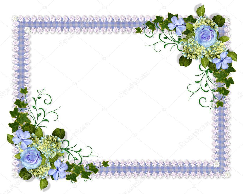 Wedding Invitation Blue Floral Stock Photo C Irisangel 5042751