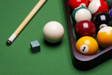 Billiart time! Pool game concept