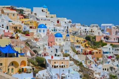 Colourful Oia village panorama