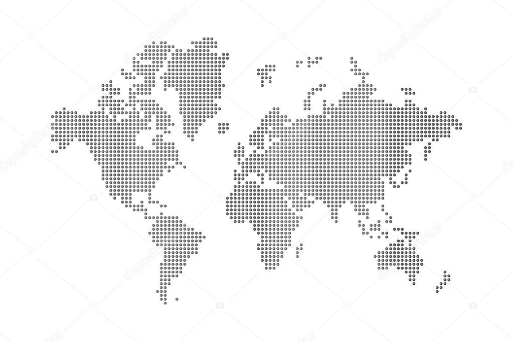 Dots world map stock photo daboost 4023421 dots world map on white background photo by daboost gumiabroncs