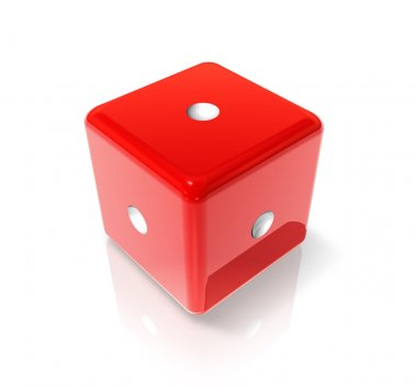 One red dice