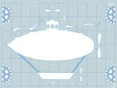 Fotografia blu spazio di stampa fantasia dirigibile dirigibile copia amichevole
