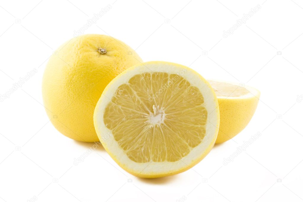 White grapefruits