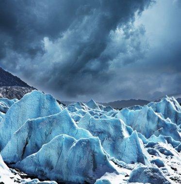 Glacier stock vector