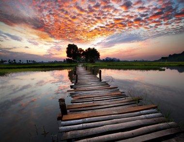 """Картина, постер, плакат, фотообои """"река на закате печать фото"""", артикул 5196518"""