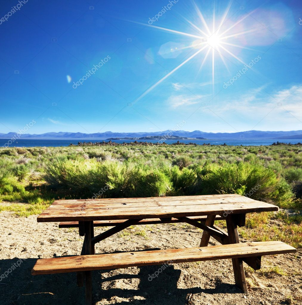 Table on Picnic place