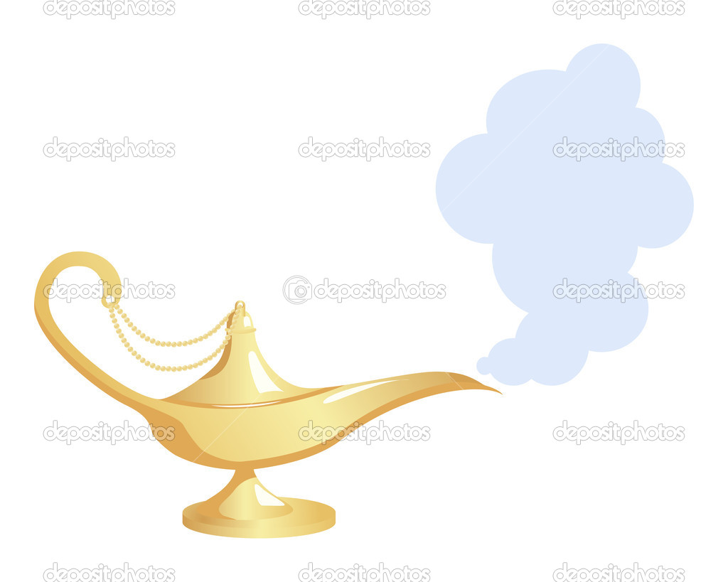 Magic Lamp — Stock Vector © Nataly-Nete #5178852 for Magic Lamp With Smoke  45gtk