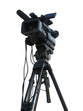 TV Professional studio digital video camera isolated