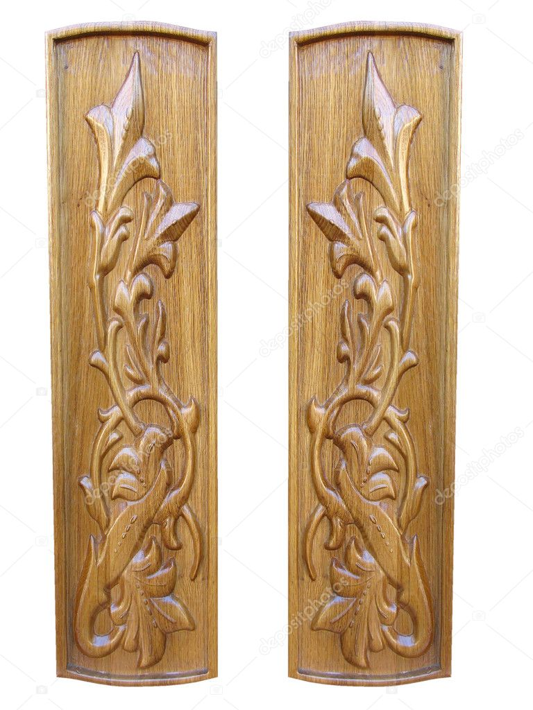 Oak wooden floral pattern decorative panels isolated — Stock Photo #4133483 - Oak Wooden Floral Pattern Decorative Panels Isolated €� Stock Photo