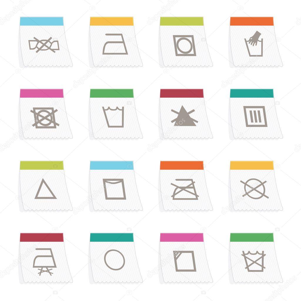 Fabric Care Symbols Stock Vector Mattasbestos 5292093
