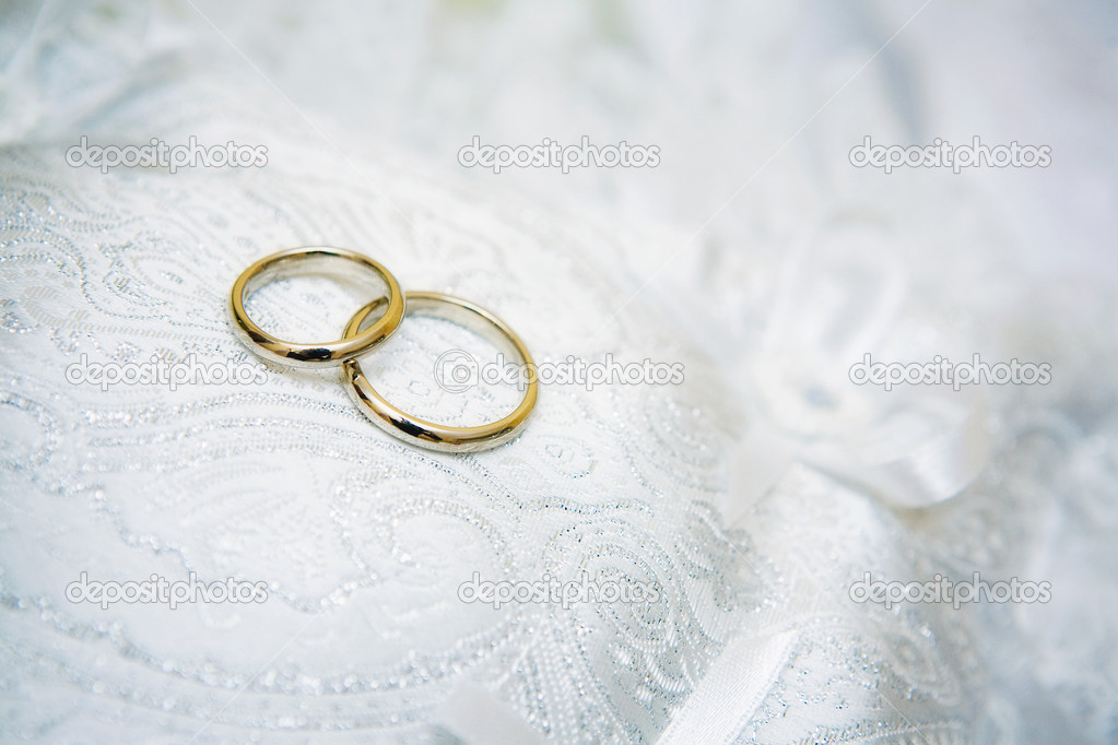 Wedding Rings On A Nice White Background Stock Photo