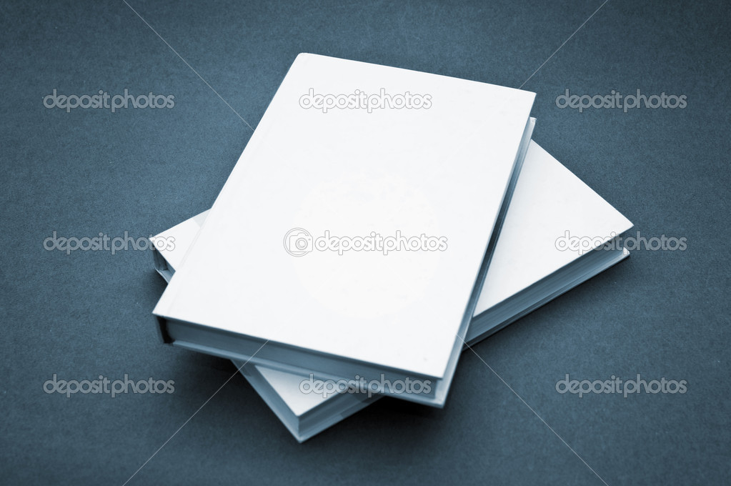 Blank cover white book