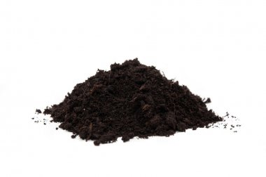 Soil over a white background