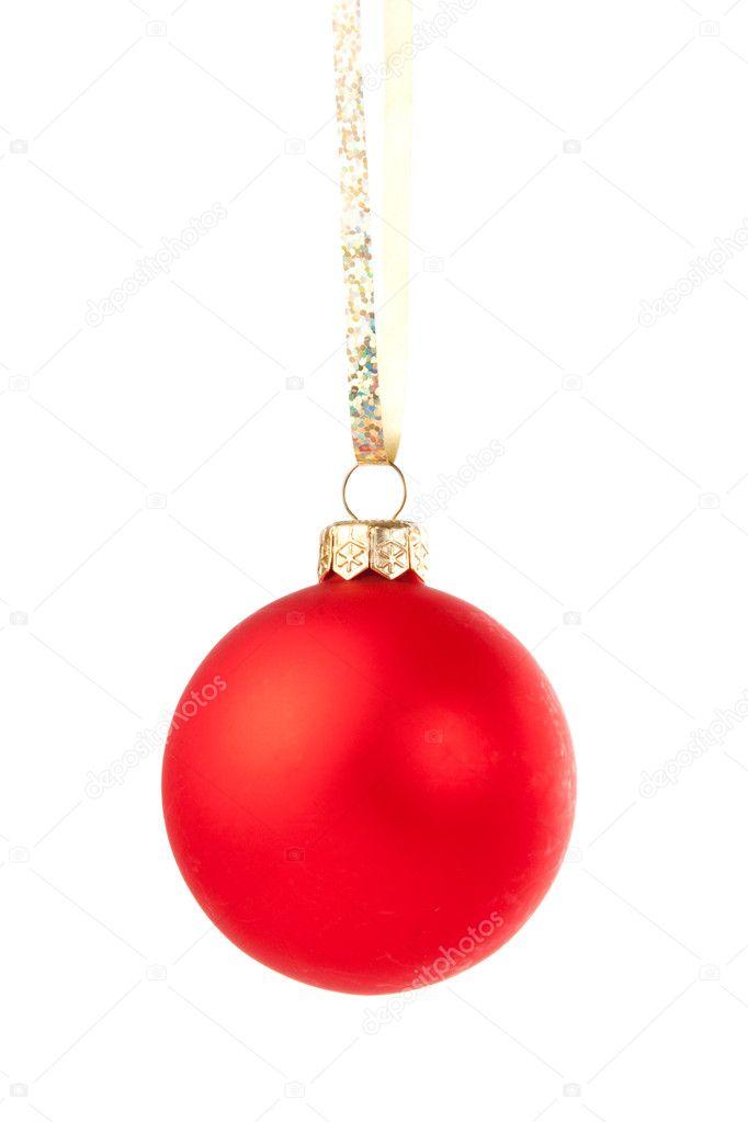 h ngende weihnachtskugel rot stockfoto nomadsoul1 4222729. Black Bedroom Furniture Sets. Home Design Ideas