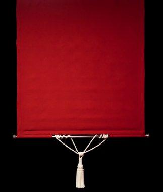 Red retro curtains