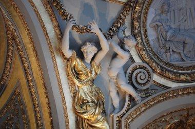Detail of Louvre Museum in Paris
