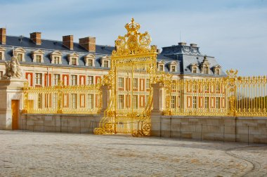 Golden gate of Versailles Palace, France
