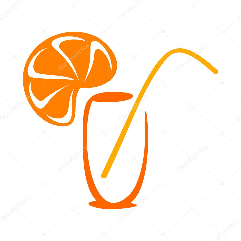 Stylized juice icon