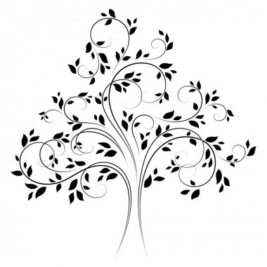 Vector tree 4 (black)
