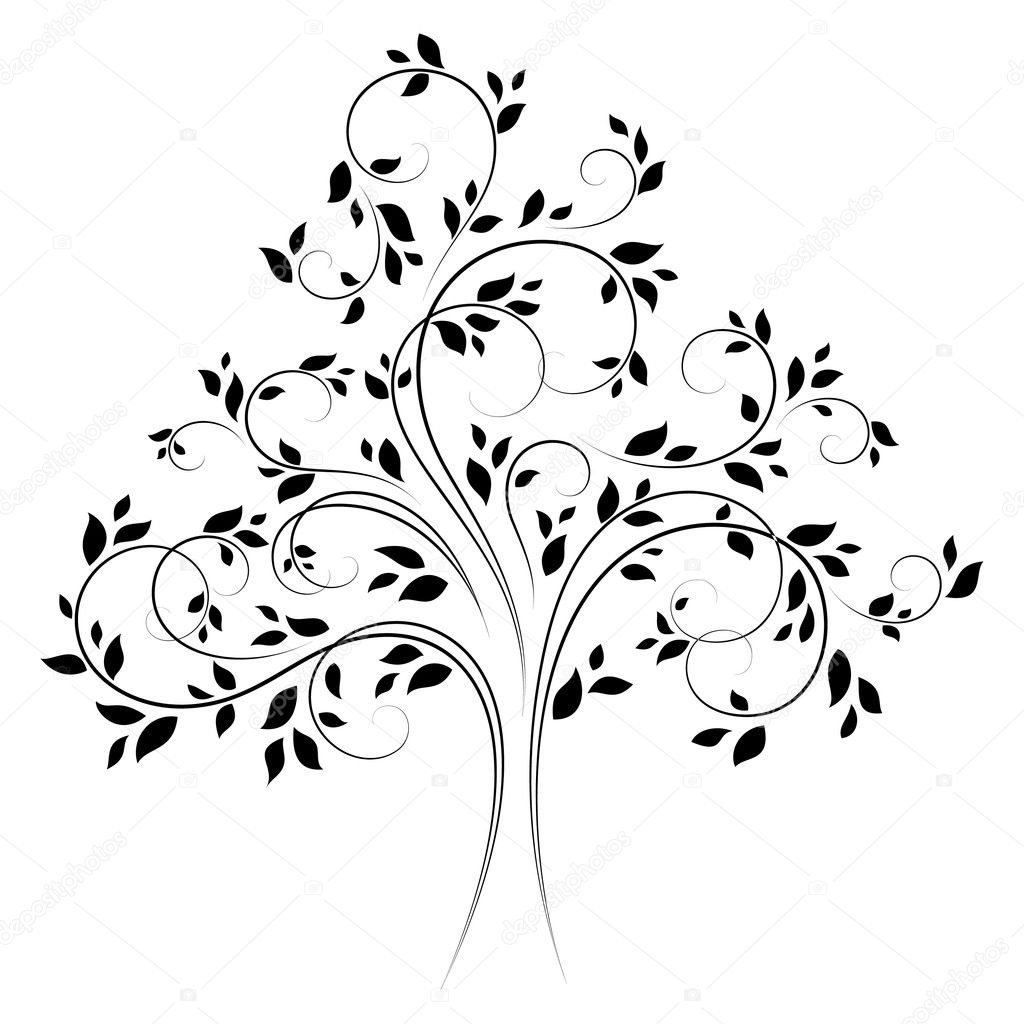 Vector tree 4 (black)