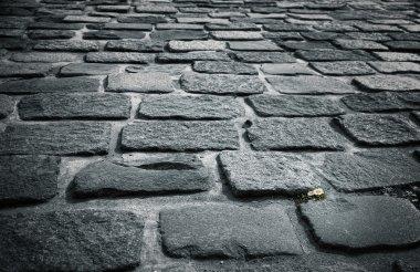 Stone block pavement