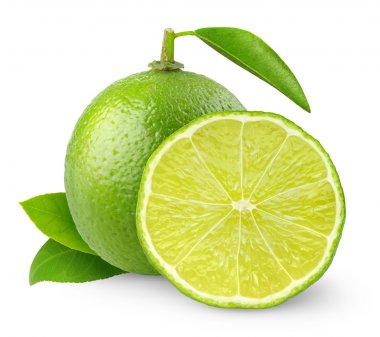 Fresh lime isolated on white stock vector