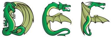 Dragons alphabet: DEF