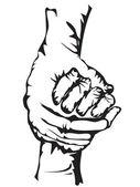 Ruce držící