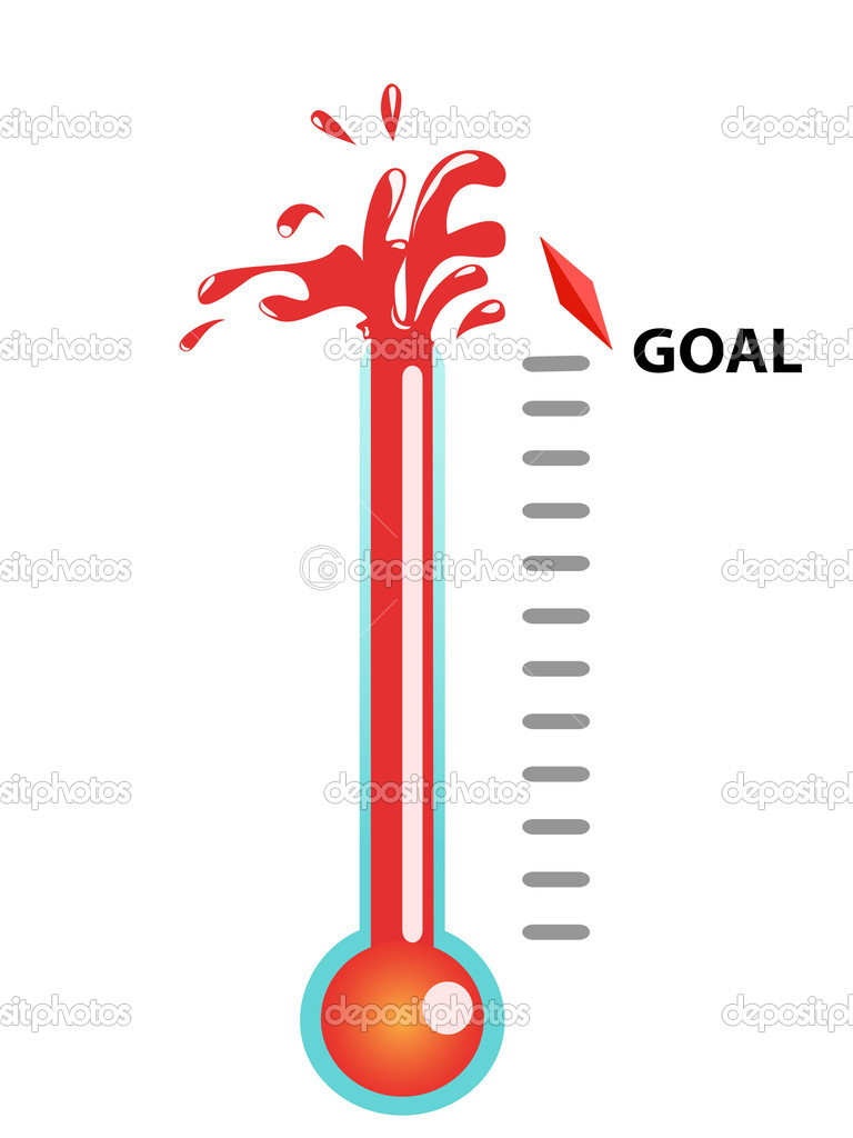 Goal thermometer — Stock Vector © huhulin #5048814