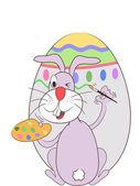 Velikonoční králík malovat vajíčka