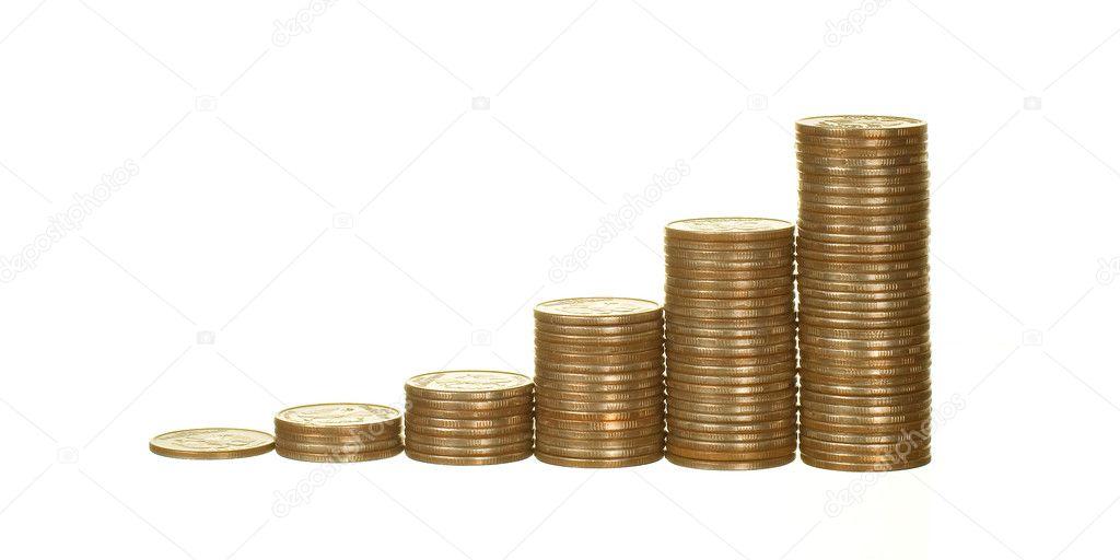 Diagramm Hergestellt Aus Münzen Stockfoto Pgkirich 4457791