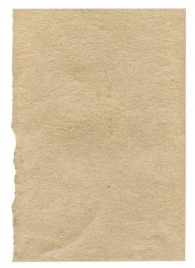 Piece of very rough paper on white