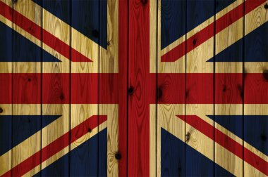 Wooden United Kingdom flag