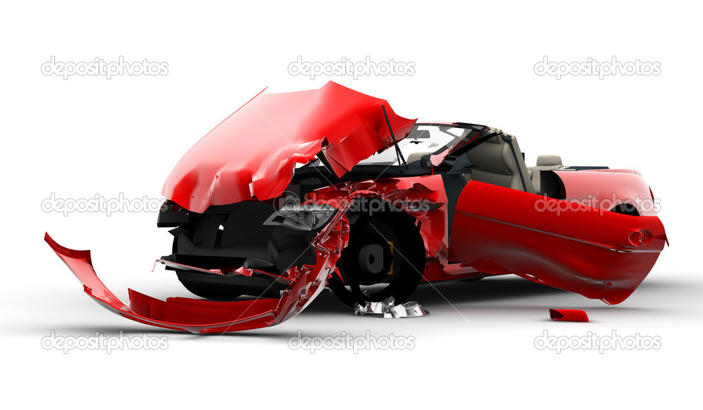 Red car accident — Stock Photo © cla1978 #4404337