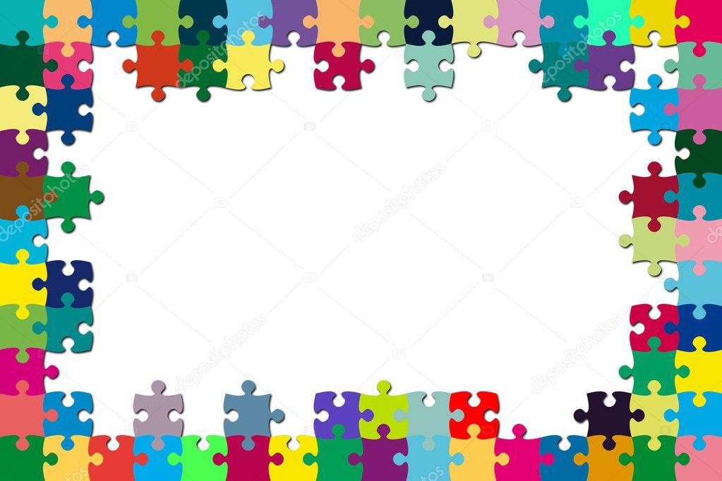 bunte Puzzle-Rahmen — Stockfoto © cla1978 #4404348